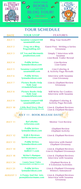 Blog Tour Schedule