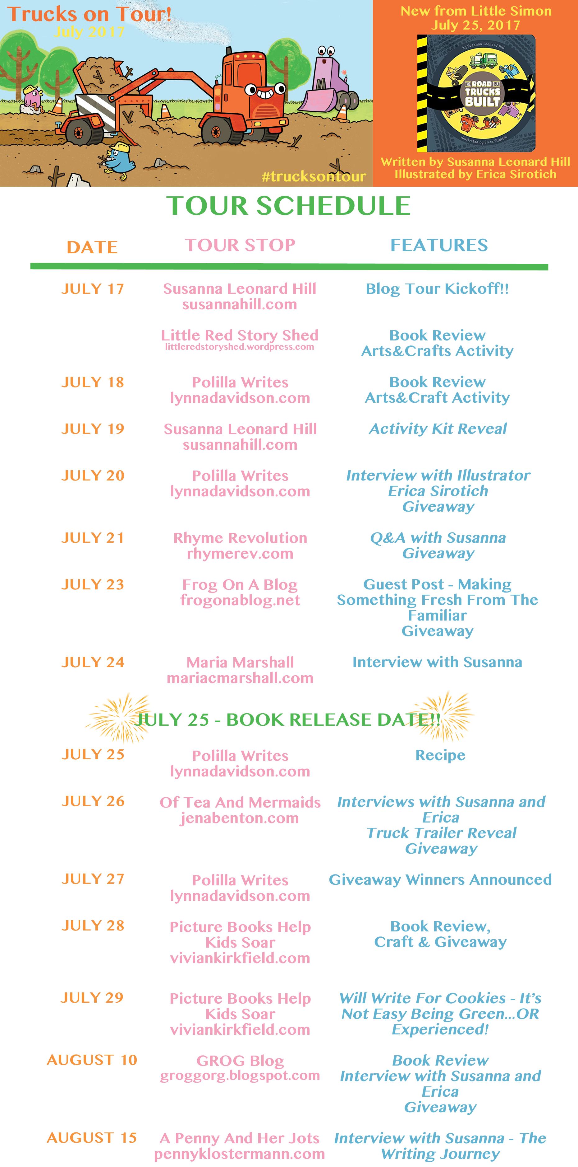 Truck Blog Tour Schedule