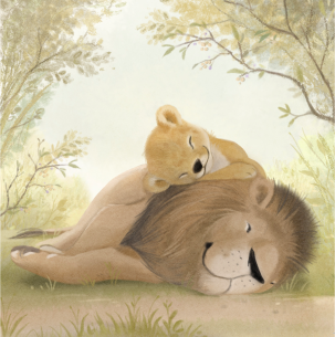 DAD - art from lion cub spread