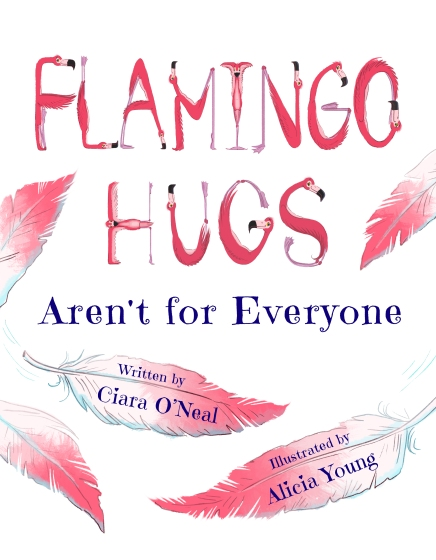 Flamingo Hugs Cover Painting_font2