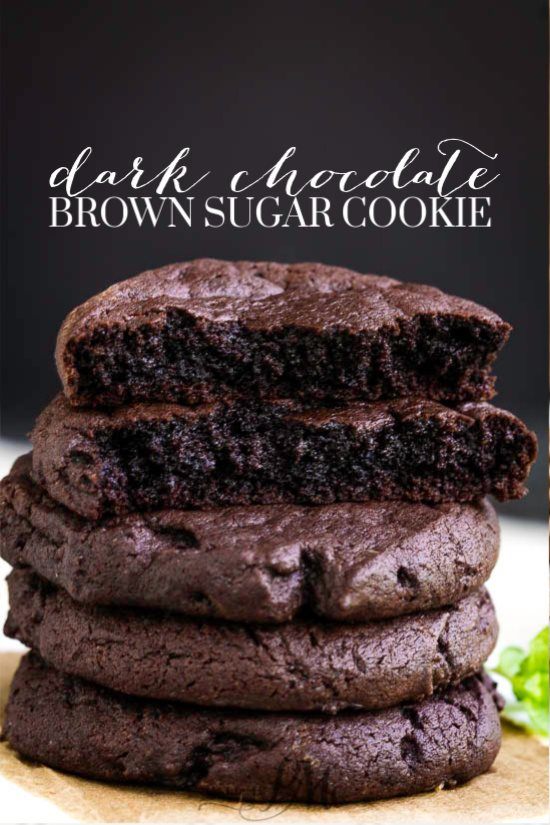 dark chocolate brown sugar cookie