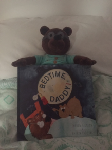 daddy bear with book